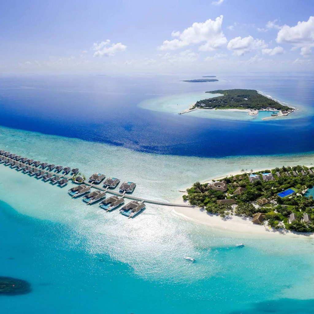 Tropical islands in the Maldives